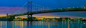 Suspension Bridge across a River, Ben Franklin Bridge, River Delaware, Philadelphia, Pennsylvani...
