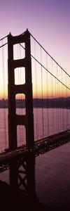 Suspension Bridge at Sunrise, Golden Gate Bridge, San Francisco Bay, San Francisco, California, USA