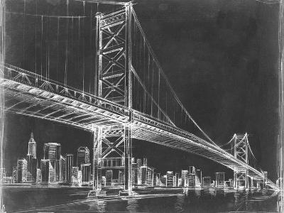 Suspension Bridge Blueprint III-Ethan Harper-Art Print