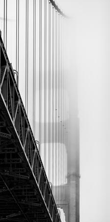 Suspension Bridge Covered with Fog, Golden Gate Bridge, San Francisco Bay, San Francisco