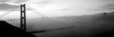Suspension Bridge Covered with Fog Viewed from Hawk Hill, Golden Gate Bridge
