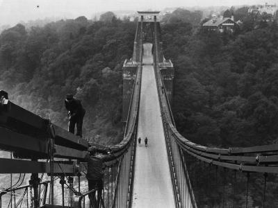 Suspension Bridge--Photographic Print