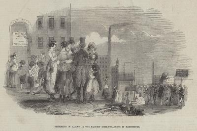 Suspension of Labour in the Factory Districts, Scene in Manchester--Giclee Print
