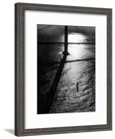 Suspension Tower of the Golden Gate Bridge at Sunrise-Margaret Bourke-White-Framed Premium Photographic Print