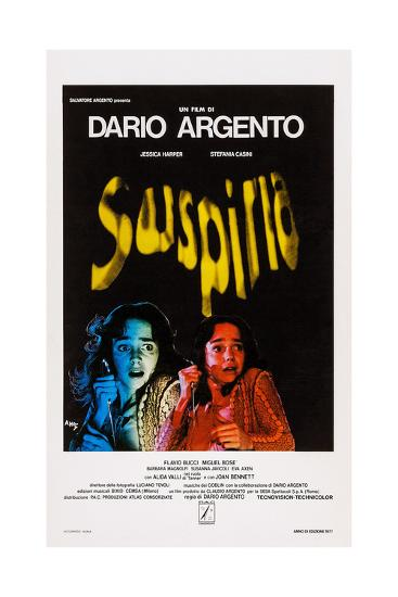 Suspiria, Italian Poster Art, Jessica Harper, 1977--Giclee Print