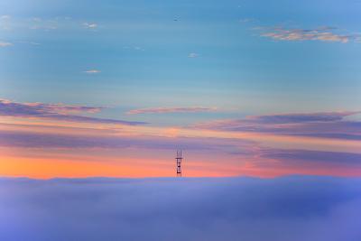 Sutro Tower Above the Fog - San Francisco, Golden Gate Bridge-Vincent James-Photographic Print