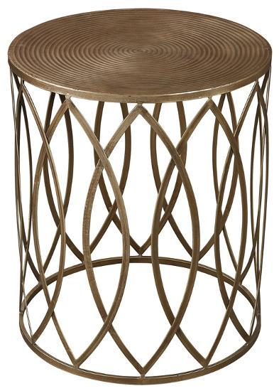 Sutton Accent Table - Gold Leaf--Home Accessories