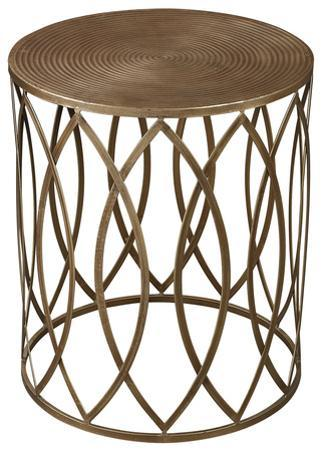 Sutton Accent Table - Gold Leaf