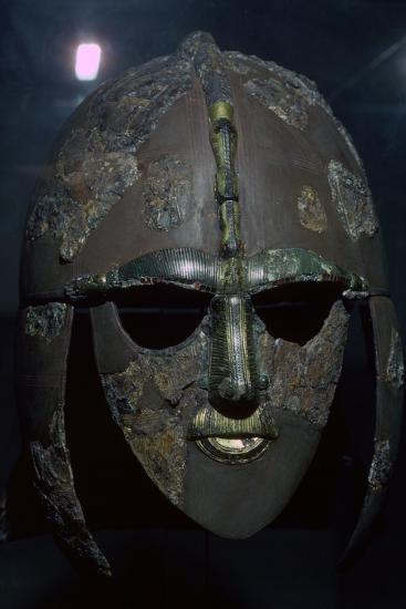 Sutton Hoo Helmet, from the ship burial, 7th century. Artist: Unknown-Unknown-Photographic Print