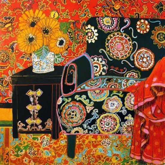 Suzani Decor-Linda Arthurs-Giclee Print