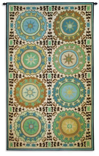 Suzani Rosettes--Wall Tapestry
