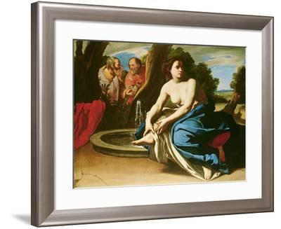 Suzanna and the Elders-Massimo Stanzione-Framed Giclee Print