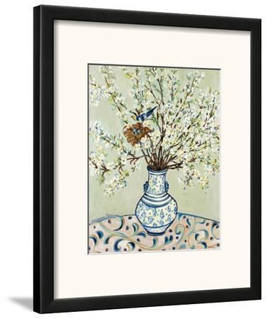 Blue and White Vase with Bird by Suzanne Etienne