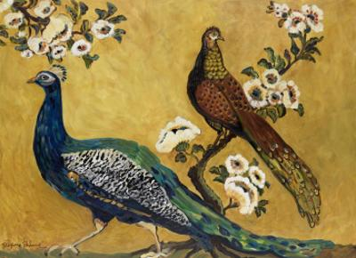 Peacocks by Suzanne Etienne