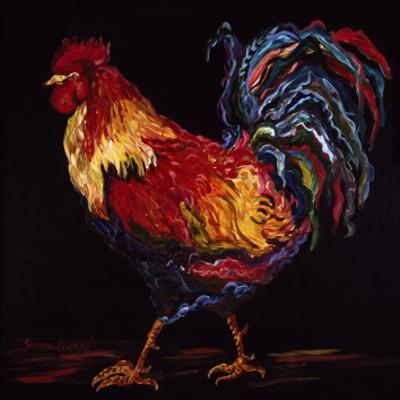 Red and Gold Rooster by Suzanne Etienne