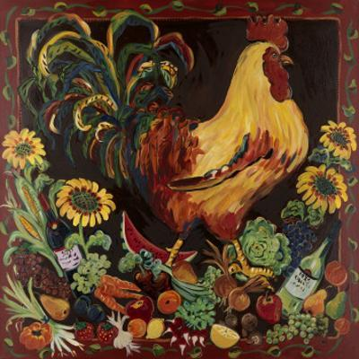 Wine and Rooster by Suzanne Etienne