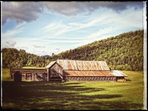 Country Barn 3 Vintage by Suzanne Foschino