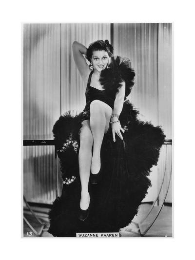 Suzanne Kaaren, American B-Movie Actress, C1938--Giclee Print