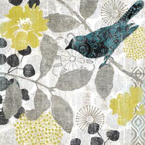 Bird on Branch I by Suzanne Nicoll