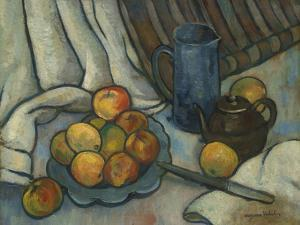 Apples, teapot and jug. Ca. 1919 by Suzanne Valadon