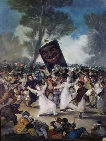 Carnival Scene: the Burial of the Sardine (El Entierro De La Sardina), C. 1812-1819