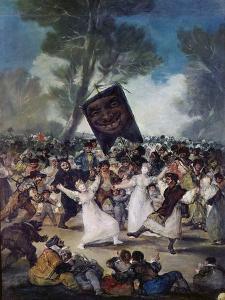 Carnival Scene: the Burial of the Sardine (El Entierro De La Sardina), C. 1812-1819 by Suzanne Valadon