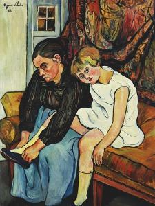 Grandmere Chaussant Une Fillette, 1931 by Suzanne Valadon