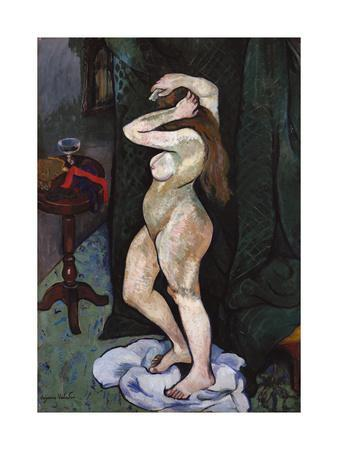 Nude Brushing Her Hair, C. 1916