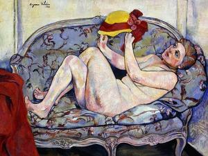 Nude Reaching on a Sofa; Nu Allonge Sur Un Canape, 1928 by Suzanne Valadon