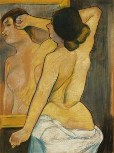 Nude Woman in Front of a Mirror; Femme Nue Devant Un Miroir, 1904 by Suzanne Valadon