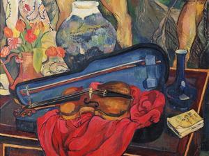 The Violin Case, 1923 by Suzanne Valadon