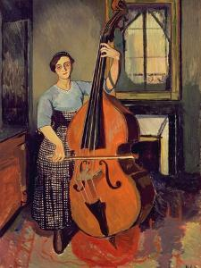 Woman with a Double Bass, 1908 by Suzanne Valadon