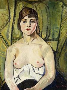 Woman with Bare Breasts by Suzanne Valadon