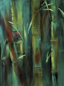 Turquoise Bamboo I by Suzanne Wilkins