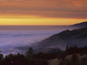 Sunset at Gamboa Point, Big Creek Reserve, Big Sur, California by Suzi Eszterhas/Minden Pictures