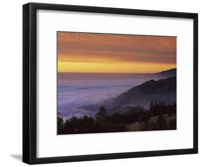 Sunset at Gamboa Point, Big Creek Reserve, Big Sur, California