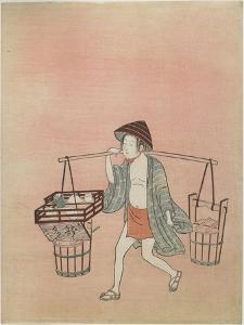 A Water Vendor, after 1765 by Suzuki Harunobu