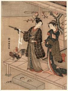 Engawa No Wakai Danjo by Suzuki Harunobu