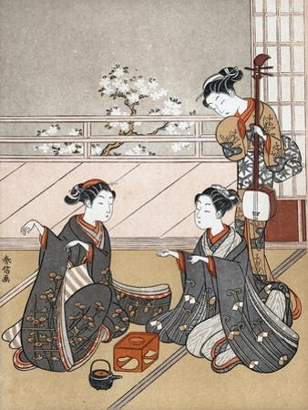 Girls Playing the Game of Ken, C1745-1770 by Suzuki Harunobu