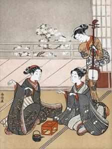 Girls Playing the Game of Ken, C1745-1770 by Suzuki Harunobu