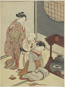 Night Rain on the Tea Stand, after 1766 by Suzuki Harunobu