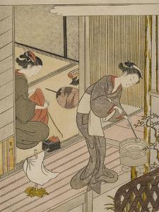 Returning Sails of the Towel Rack (Tenugui-Kake No Kihan), C.1766 by Suzuki Harunobu