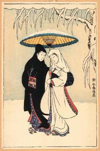 Secchu Aiaigasa by Suzuki Harunobu
