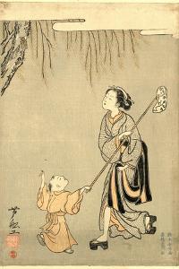 Semitori by Suzuki Harunobu