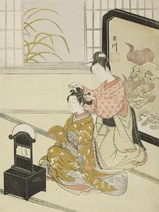 The Autumn Moon in the Mirror (Kyodai No Shugetsu), C.1766 by Suzuki Harunobu