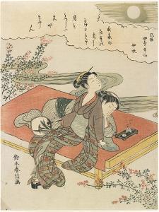 The Eighth Month, C. 1768 by Suzuki Harunobu