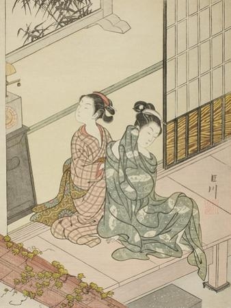The Evening Bell of the Clock , from the series Eight Views of the Parlor , c.1766 by Suzuki Harunobu