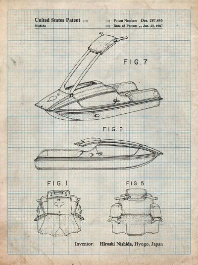 Suzuki Jet Ski Patent-Cole Borders-Art Print