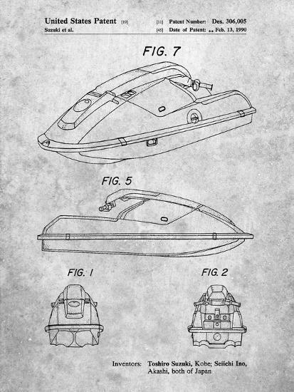 Suzuki Wave Runner Patent-Cole Borders-Art Print