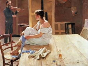 After the Pose, 1884 by Sven Richard Bergh